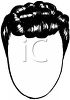 picture of a short wig on a mannequin head in a vector clip art illustration clipart