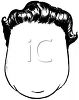 picture of a  mans wig on a mannequin head in a vector clip art illustration clipart