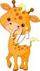 picture of a giraffe calf cartoon in a vector clip art illustration clipart