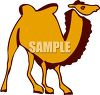 picture of a cartoon camel in a vector clip art illustration clipart