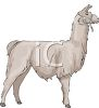 picture of a llama standing in a vector clip art illustration clipart