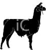 picture of a silhouette of a llama in a vector clip art illustration clipart