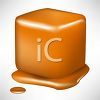 picture of a square piece of caramel melting in a vector clip art illustration clipart