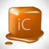 picture of a piece of melting caramel in a vector clip art illustration clipart
