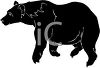 picture of a silhouette of a bear walking in a vector clip art illustration clipart