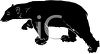 picture of a silhouette of a large bear walking in a vector clip art illustration clipart