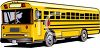 picture of a school bus stopped in a vector clip art illustration clipart