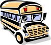 picture of a school bus cartoon in a vector clip art illustration clipart