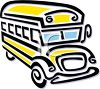 picture of a cartoon school bus in a vector clip art illustration clipart