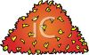 picture of a pile of leaves in a vector clip art illlustration clipart