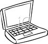 picture of a laptop in a vector clip art illustration clipart