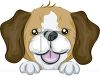 picture of a beagle pup in a vector clip art illustration clipart