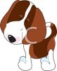 picture of a beagel puppy in a vector clip art illustration clipart