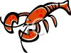 picture of a cartoon lobster in a vector clip art illustration clipart
