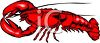 picture of a lobster cartoon in a vector clip art illustration clipart