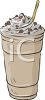 picture of a milkshake with chocolate sprinkles on top in a vector clip art illustration clipart