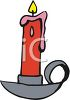 picture of a red burning candle in a vector clip art illustration clipart