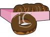 picture of a box of chocolate donuts in a vector clip art illustration clipart