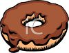 picture of a chocolate frosted donut in a vector clip art illustration clipart