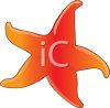 picture of a starfish cartoon in a vector clip art illustration clipart