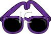 picture of a pair of purple sunglasses in a vector clip art illustration clipart
