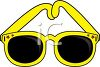 picture of a pair of yellow sunglasses in a vector clip art illustration clipart