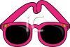 picture of a pair of pink sunglasses in a vector clip art illustratin clipart