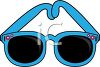 picture of a pair of blue sunglasses in a vector clip art illustration clipart