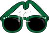 picture of a pair of green sunglasses in a vector clip art illustration clipart