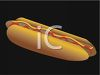 picture of a hot dog with ketchup and mustard on a bun in a vector clip art illustration clipart