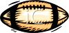 picture of a football on a white background in a vector clip art illustration clipart