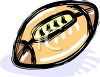 picture of a cartoon football in a vector clip art illustration clipart