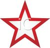 picture of white star in the center of a red star in a vector clip art illustration clipart