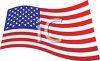 picture of an American Flag waving in a vector clip art illustration clipart