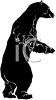 picture of a bear on his hind legs in a vector clip art illustration clipart