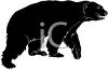 picture of a large black bear in a vector clip art illustration clipart