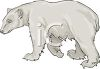picture of a polar bear in a vector clip art illustration clipart