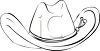 picture of an outline of a cowboy hat in a vector clip art illustration clipart