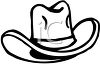 picture of a cowboy hat in black and white in a vector clip art illustration clipart
