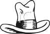 picture of a stetson cowboy hat in a vector clip art illustration clipart