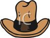 picture of a brown cowboy hat in a vector clip art illustration clipart