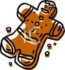 picture of a gingerbread man in a vector clip art illustration clipart