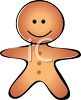 picture of a cartoon gingerbread man in a vector clip art illustration clipart
