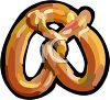 picture of a pretzel in a vector clip art illustration clipart