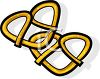 picture of 2 pretzels with salt in a vector clip art illustration clipart