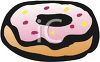 picture of a pink frosted donut in a vector clip art illustration clipart