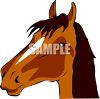 picture of a cartoon of a horses head in a vector clip art illustration clipart