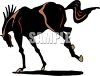 picture of a horse bucking in a vector clip art illustration clipart