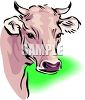 picture of a bull's head in a vector clip art illustration clipart