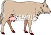 Picture of a cow in a vector clip art illustration clipart